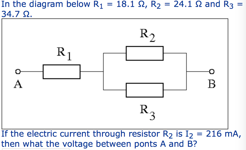 Solved: In The Diagram Below R1 = 18.1 ?, R2 = 24.1 ? And ...