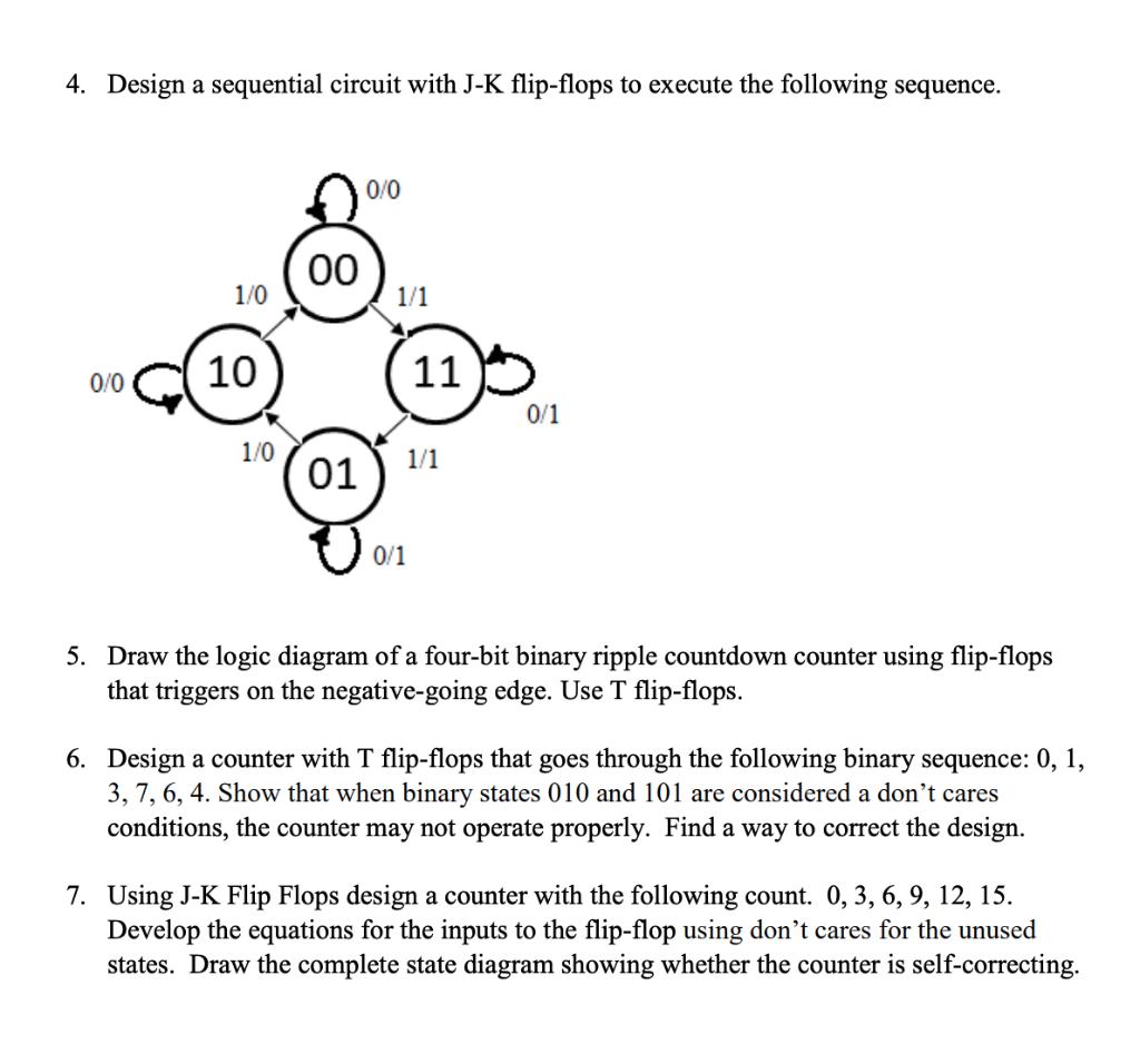 [WLLP_2054]   Solved: 4. Design A Sequential Circuit With J-K Flip-flops...   Chegg.com   T Flip Flop Logic Diagram      Chegg