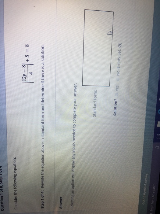 Solved Question 1 Of 8 Step 181 Consider The Following E