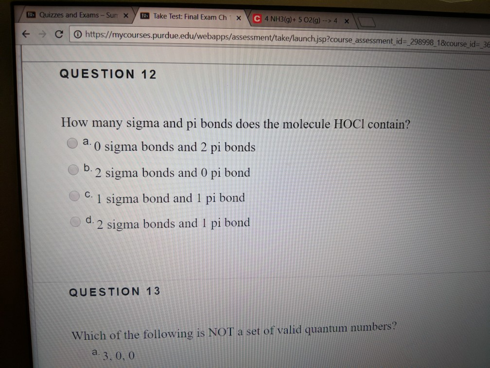 Question Quizzes And Exams Sun Xtake Test Final Exam Ch X G4x O Https Mycourses Purdue Ed