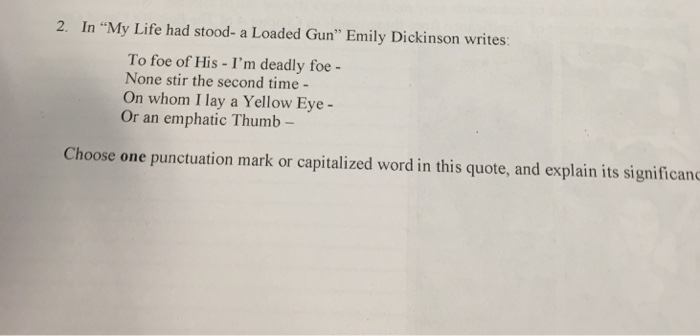 emily dickinson my life had stood
