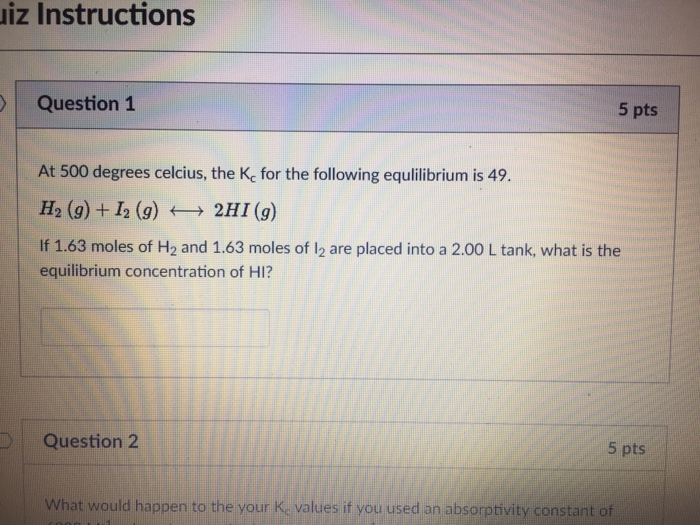 Solved Iz Instructions Question 1 5 Pts At 500 Degrees Ce