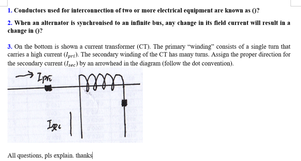 Solved: 1  Conductors Used For Interconnection Of Two Or M