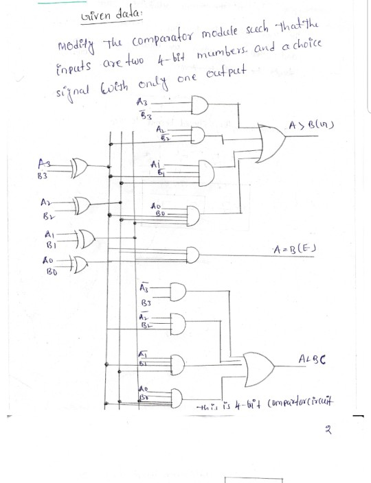 3 Bit Comparator Logic Diagram
