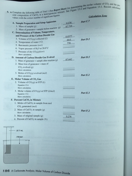 Solved: Volume Of Per-. 6. A. Complete The Following Cent ...