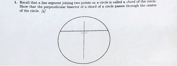 Solved: 1. Recall That A Line Segment Joining Two Points P ...