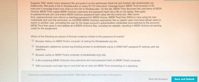 0d02bbaa45d Question  Suppose  Mal steals rona s password file and posts it on the  well-known black hat (evil hacker) s.