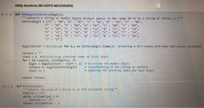 Solved Answer In Python According To Instructions Decryp