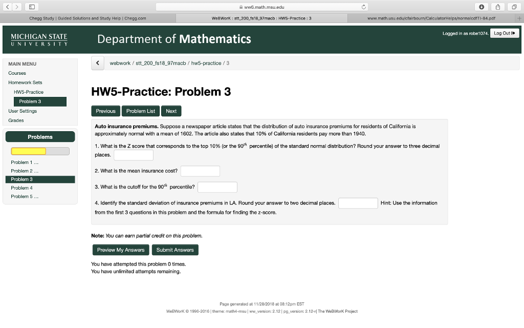 Solved: Ww6 math msu edu Chegg Study | Guided Solutions An