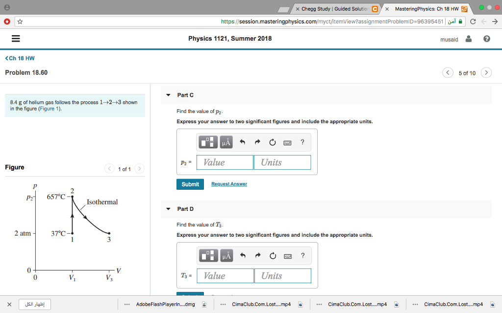 Solved: X Chegg Study | Guided Solution C X MasteringPhysi