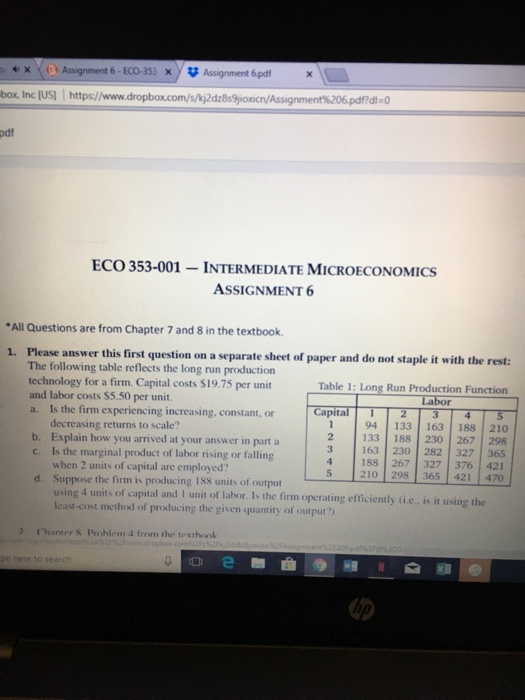 Solved: XD Assignment 6-ECO-353 X Assignment 6pd Box, Inc