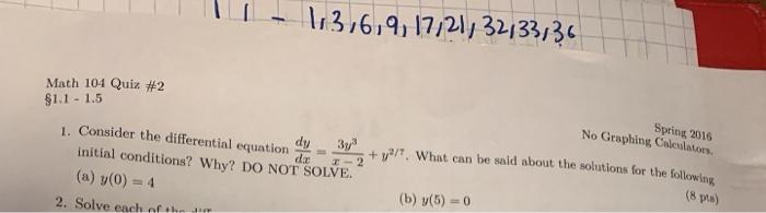 316,9, 17 21/ 3213313 Math 104 Quiz #2 S1 1 1 5 Sp