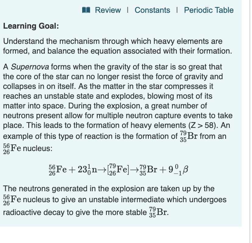 Solved: Part A How Many Neutrons Must An 26Fe Nucleus Capt