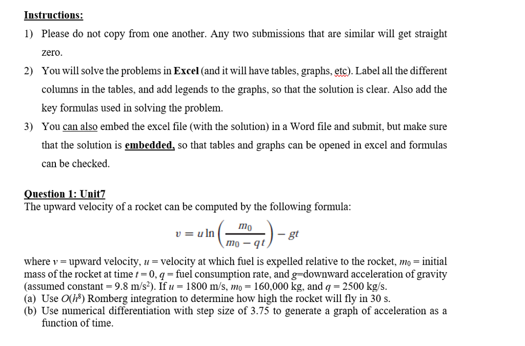 Solved Instructions 1 Please Do Not Copy From One Anoth