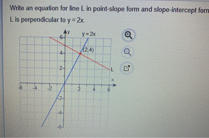 solved write an equation for line l in pointslope form a