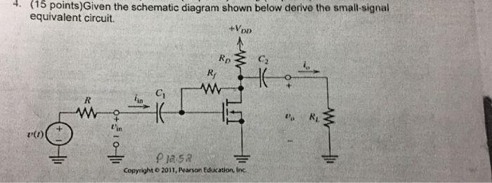 solved given the schematic diagram shown below derive the