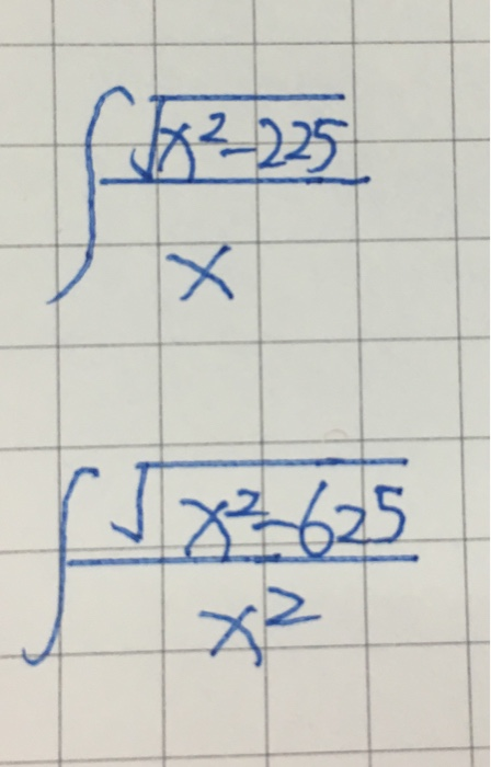 Solved Integral Squareroot X 2 225 X Integral Squareroo Chegg Com A square root goes the other direction: chegg