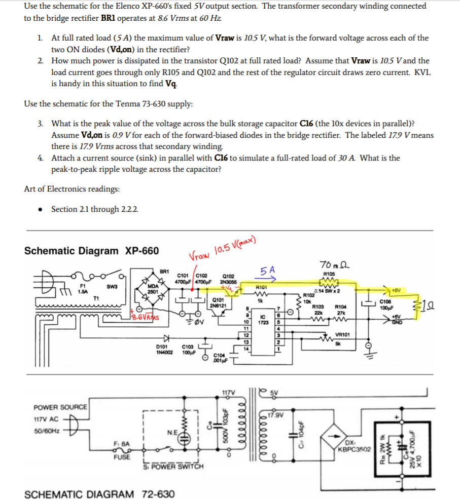 Find The Open Circuit Voltage Voc Short Cheggcom Electrical Engineering Archive October 17 2018 Use Schematic For Elenco Xp 660s Fixed 5v Output Section Transformer