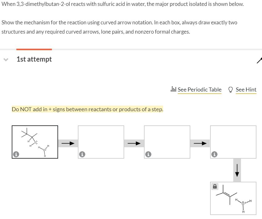 Solved When 33 Dimethylbutan 2 Ol Reacts With Sulfuric A