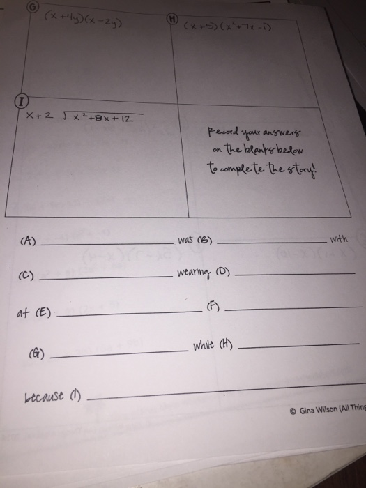 Ammco bus : Gina wilson all things algebra 2016 answer key