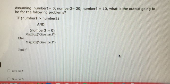Solved: Assuming Number 1 = 0, Number 2 = 20, Number 3 = 1