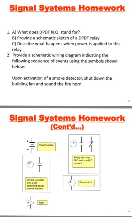 Solved: Signal Systems Homework 1, A) What Does DPDT N О