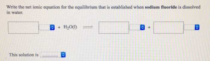 Solved Write The Net Ionic Equation For The Equilibrium T