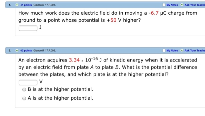 solved how much work does the electric field do in moving
