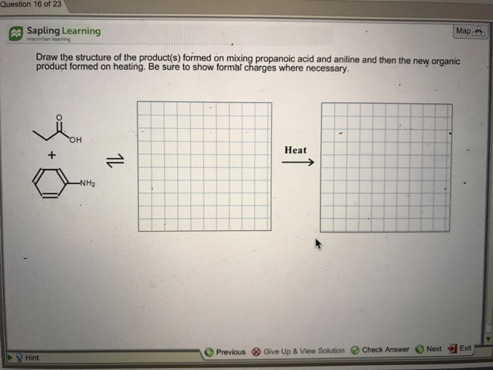 Chemistry archive march 02 2018 chegg question 16 of 23 map sapling learning h the ney organic d aniline and then the fandeluxe Images