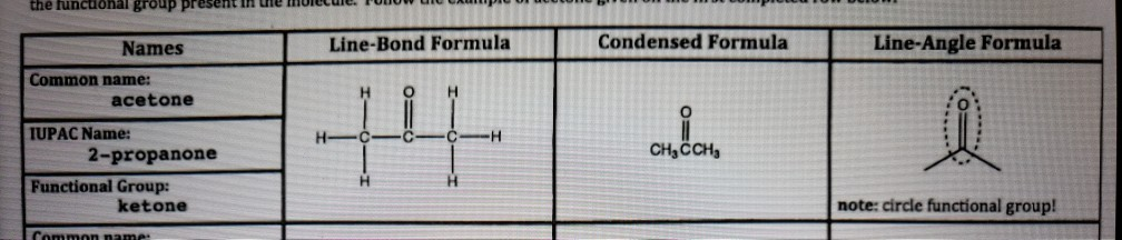 Solved Question Identifying The Functional Groups Of A L