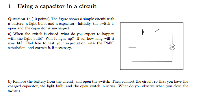 figure shows a simple circuit diagram with a battery an open switchsolved 1 using a capacitor in a circuit question 1 (10 p figure shows a simple circuit diagram with a battery an open switch