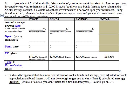 2 spreadsheet 2 calculate the future value of you chegg com