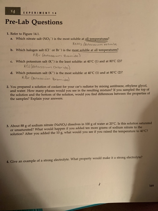 Solved: E XPERIMENT 14 Pre-Lab Questions 1  Refer To Figur
