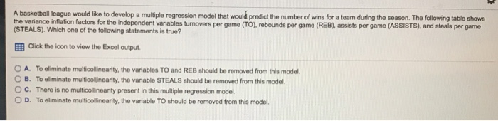Solved: A Basketball League Would Like To Develop A Multip