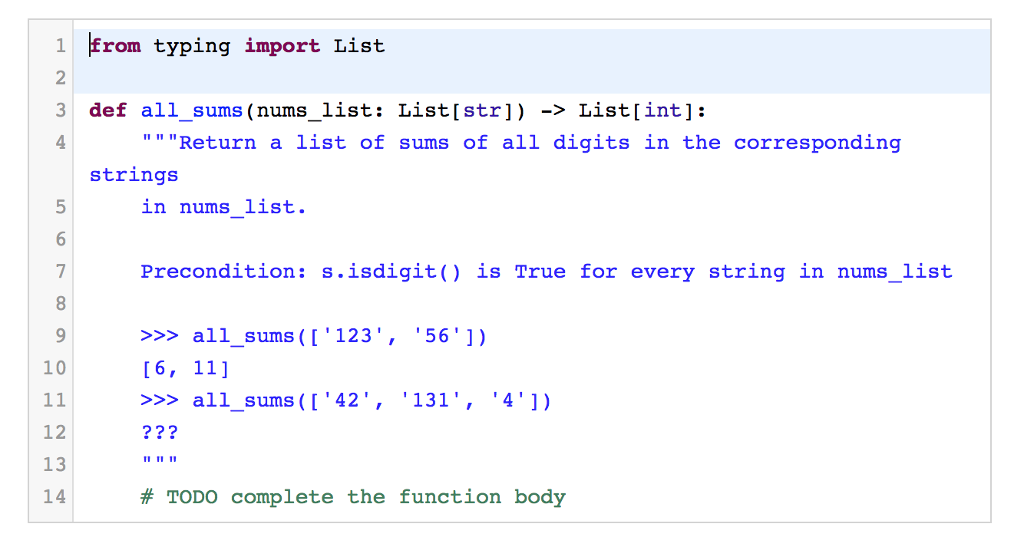 Solved: 1Erom Typing Import List 2 3 Def All_sums (nums_li