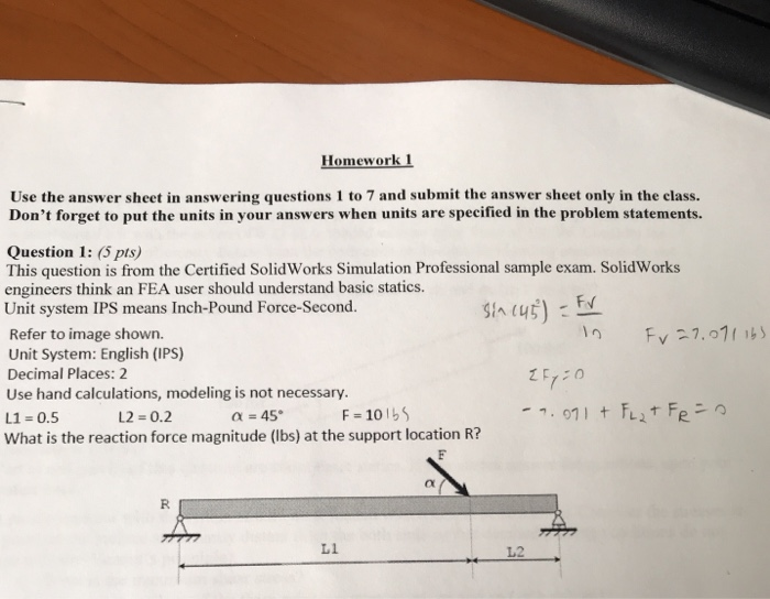 Solved: Homework Use The Answer Sheet In Answering Questio
