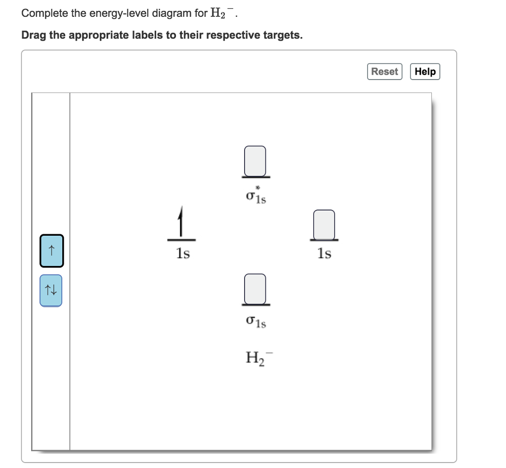 Solved: Complete The Energy-level Diagram For H2 Drag The