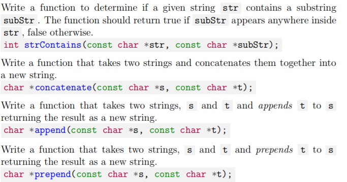 Solved: Write A Function To Determine If A Given String St