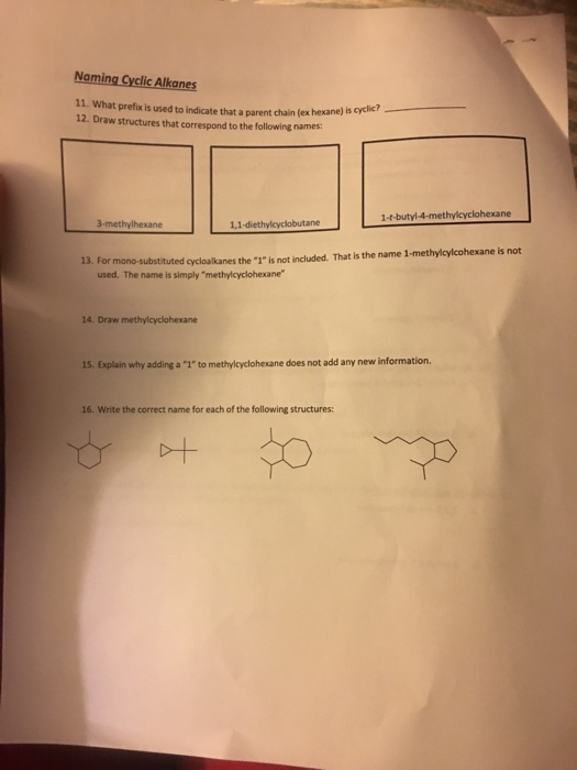 Solved Nomenclature Worksheet The Basics 1 Cross Out Eac