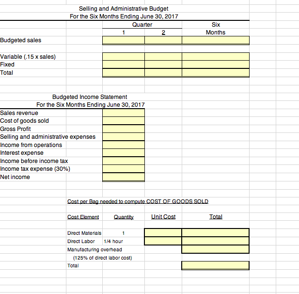 solved prepare a budgeted multi step income statement for