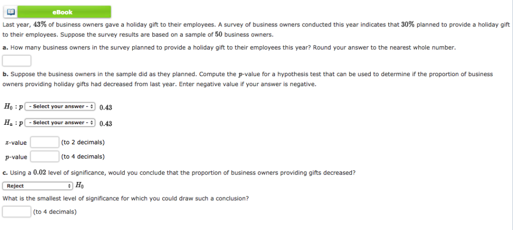 Solved Ebook Last Year 43 Of Business Owners Gave A Hol