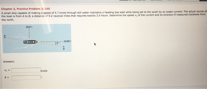 Chapter 2 Practice Problem 105 A Small Ship Capable Of Making Speed