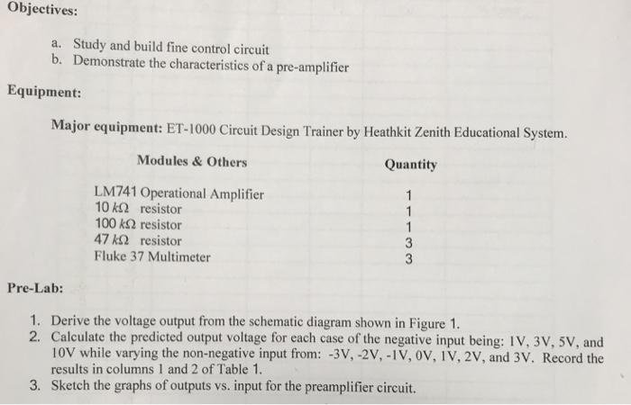 Terrific Objectives A B Study And Build Fine Control Cir Chegg Com Wiring Digital Resources Anistprontobusorg