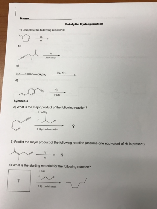 Give the name of the product from complete hydrogenation of...