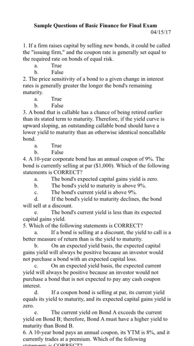 acct1101 exam final sample Practice exams exam #1  exam #2 fall 2015 practice exams for the fall 2015 exam 2 note: do not ignore question 49  final  please note that the practice final only has 4.