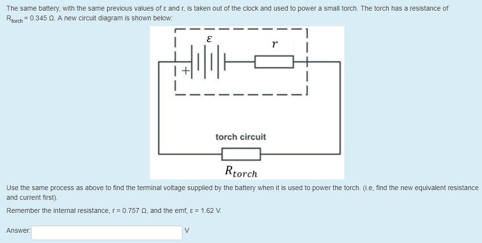 Solved: A Clock Is Run From A Battery, As Shown In The Cir ... on