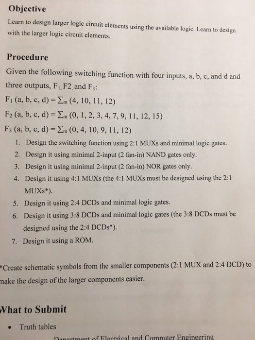 Solved Learn To Design Larger Logic Circuit Elements Usin