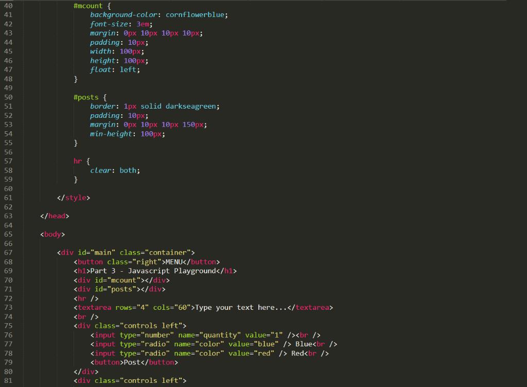 Complete The Question, Add An External Javascript