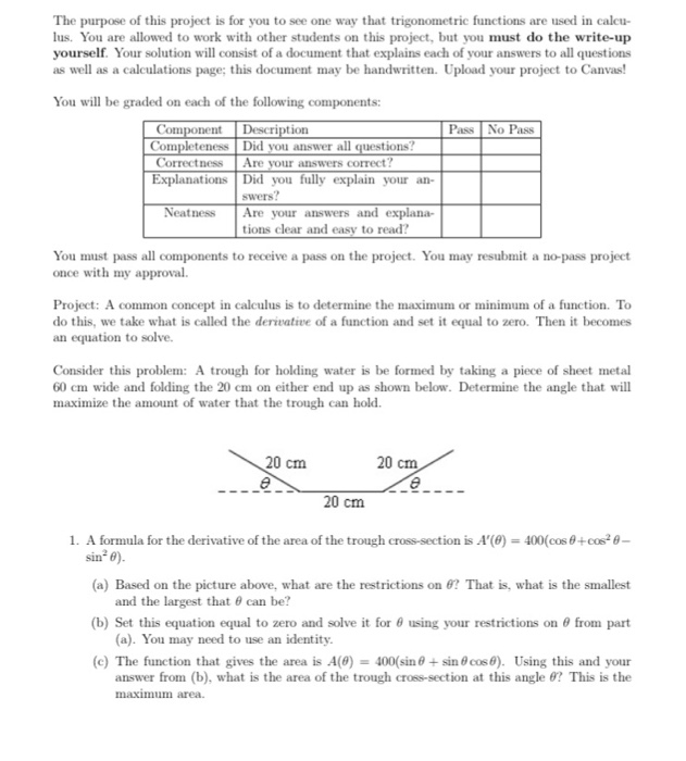 Precalculus archive february 27 2018 chegg the purpose of this project is for you to see one way that trigonometric functions are fandeluxe Gallery