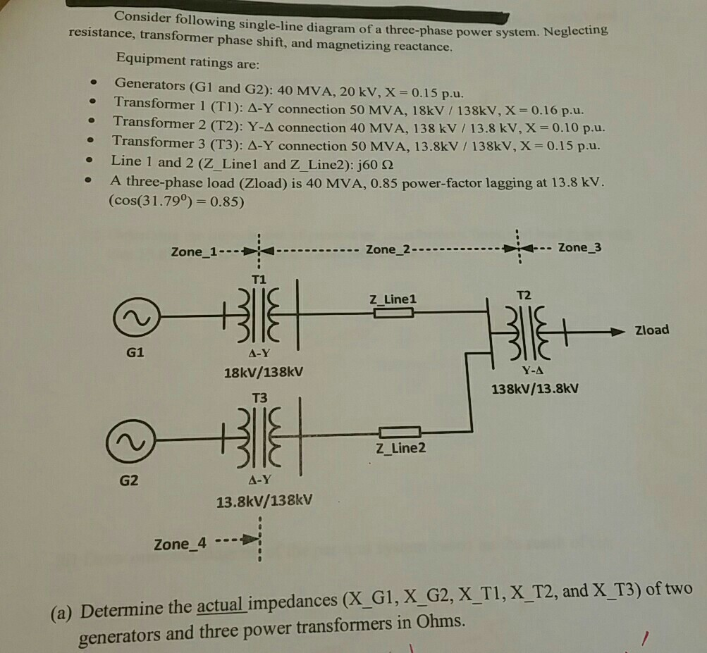 Solved: Consider Following Single-line Diagram Of A Three-...   Chegg.comChegg